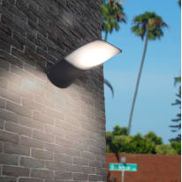 Applique Zerta LED integrato in alluminio, grigio, 30W 2090LM IP44 CALI