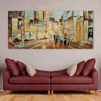 Dipinto originale Boulevard 80x180 cm