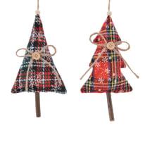 Albero fantasia scozzese rossa, 2 versioni assortite