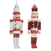 Schiaccianoci bianco e rosso, in 2 versioni assortite