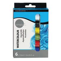 Pittura MAIMERI acquarelli simply 0.2 L 6 colori diversi