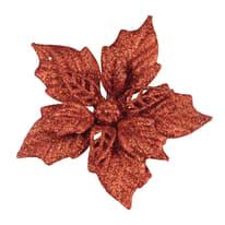 Stella di Natale con clip in plastica H 11.7 cm, L 22 cm  x P 2.5 cm