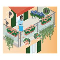 Kit di irrigazione goccia a goccia 20 punti di irrigazione CLABER con programmatore