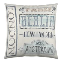 Cuscino London grigio 40x40 cm