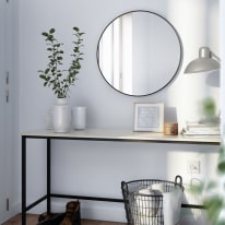 Specchio a parete tondo Circle nero 52x52 cm50 cm INSPIRE