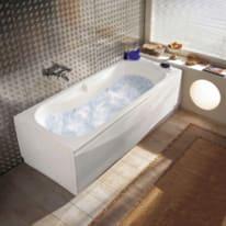 Vasca idromassaggio rettangolare Egeria bianco 160 x 55 cm 6 bocchette