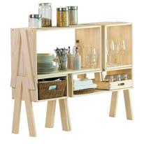 Scaffale in legno in kit Combo 5 ripiani L 122 x P 33 x H 90.5 cm legno
