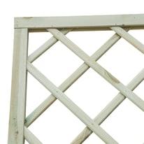 Pannello reticolato in legno Diago 90 x 180 cm
