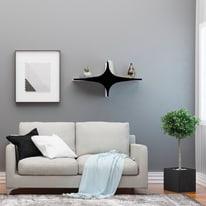 Mensola Chausey L 90 x P 20 cm, Sp 20 cm bianco e nero