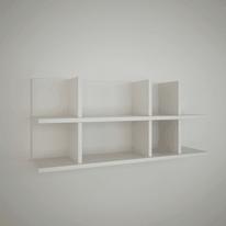 Mensola Ketoj L 90 x P 22 cm, Sp 20 cm bianco
