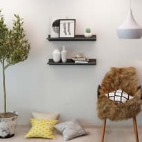 Mensola Filyos L 80 x P 18 cm, Sp 20 cm grigio