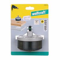 Set di seghe a tazza WOLFCRAFT in hss Ø 60-68-74-80-95 mm