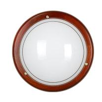 Plafoniera Rigo marrone, in vetro, diam. 30 cm, E27 MAX60W IP20