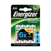 Pila ricaricabile AA ENERGIZER Recharge 4 batterie