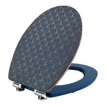 Copriwater ovale Diplomat Art Deco Blu