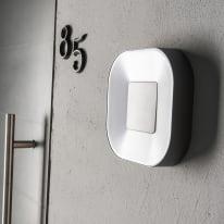 Applique a soffitto Arena LED integrato in alluminio, grigio, 15.5W 900LM IP54 INSPIRE