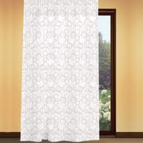 Tenda Circle bianco con stampa corda fettuccia con passanti nascosti 180x280 cm
