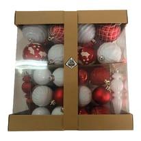 Sfera natalizia in plastica Ø 6 cm confezione da 58 pezzi