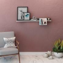 Mensola Porto L 120 x P 25 cm, Sp 20 cm bianco e grigio