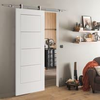 Porta scorrevole con binario esterno Ribera in mdf laccato Kit Toledo L 93 x H 212 cm