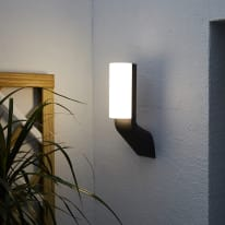 Applique Sebring LED integrato in alluminio, grigio, 14.5W 1600LM IP44 INSPIRE