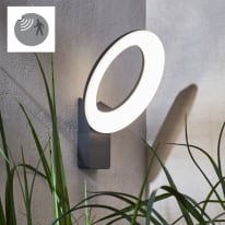 Applique Quito LED integrato in alluminio, grigio, 16W 2100LM IP54 INSPIRE