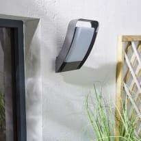 Applique Hosford LED integrato in alluminio, grigio, 15.5W IP54 INSPIRE