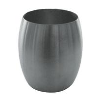 Bicchiere porta spazzolini Nigella in inox argento