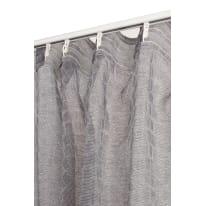 Tenda Mosaico grigio fettuccia con passanti nascosti 135x280 cm