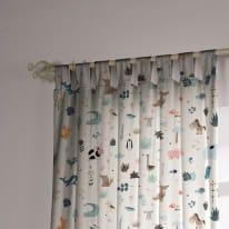 Tenda INSPIRE Cactus multicolor occhielli 140x270 cm