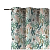 Tenda INSPIRE Monkey multicolore occhielli 140x270 cm