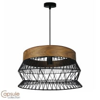 Lampadario Manam marrone, nero, in metallo, diam. 46 cm, E27 MAX60W IP20 INSPIRE