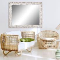 Specchio a parete rettangolare Gaia bianco 50x70 cm