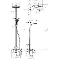 Colonna doccia Crometta E 240 Termostatica