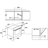 Forno Elettrico multifunzione ventilato 6 funzioni INDESIT IFW 4534 H BL