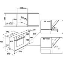 Forno Elettrico statico/radiante/a convezione 3 funzioni INDESIT IFV 220 BL