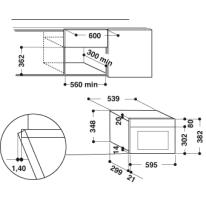 Microonde grill singolo 2 funzioni INDESIT MWI 6213 IX