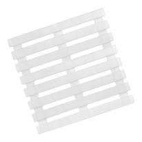 Pedana doccia per doccia in polipropilene trasparente ghiaccio 58 x 58 cm