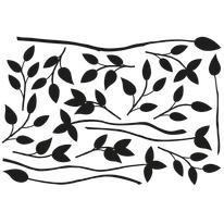 Sticker Rami neri 67x94 cm
