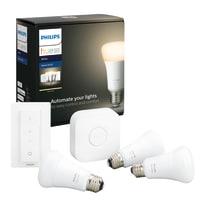 lampadina collegato LED Philips HueW 9W A60 E27 3set sw EUR dal bianco caldo al neutro E27 9W = 806LM (equiv 60W) 150° PHILIPS HUE