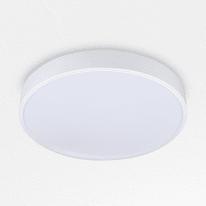 Plafoniera Hey bianco, in ferro, diam. 35, LED integrato 30W IP20