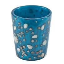 Bicchiere porta spazzolini Antille in resina azzurro