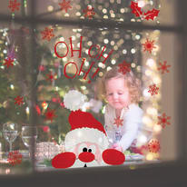 Sticker Christmas Santa Claus 22x67 cm