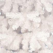 Albero di natale artificiale opaco bianco H 180 cm