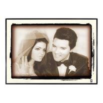 Stampa incorniciata Elvis Presley 50.7x70.7 cm