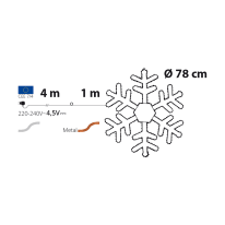 Figura natalizia 520 lampadine bianco caldo H 100 cm