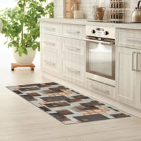 Tappeto cucina antiscivolo Full nodo marrone 55x180 cm