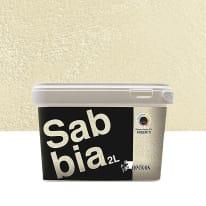 Pittura decorativa Sabbia 2 l bianco avorio 5 effetto sabbiato