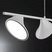 Lampadario CHARA bianco, in metallo, LED integrato 28W 2600LM IP20 WOFI