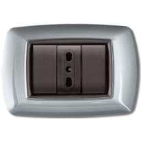 Placca FEB Flexì life 3 moduli alluminio chiaro